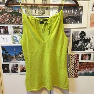 Bardot lime green top
