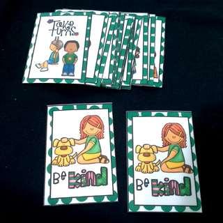 DIY Manner Matching Cards game (24cards) Free mailing