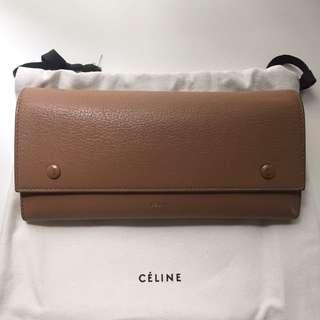 CELINE beige long wallet