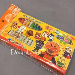 日本帶回 麵包超人系列  細菌人 小病毒 16色蠟筆組