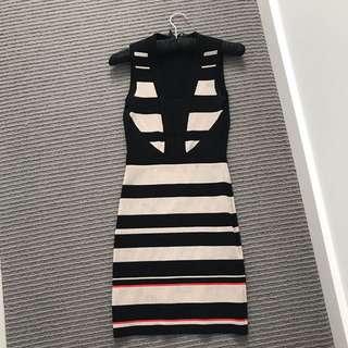 Karen Millen size 1 stretch bodycon dress