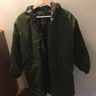 軍綠迷彩外套(韓版)