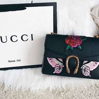 GUCCI DIONSYUS BUTTERFLY EMBROIDERED