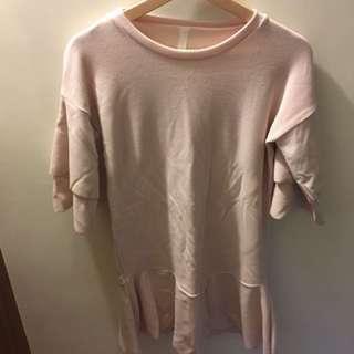 粉色韓版洋裝