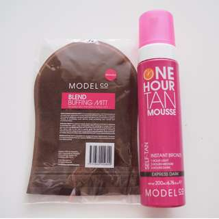 Model Co One Hour Tan Mousse Self-tan & Mitt