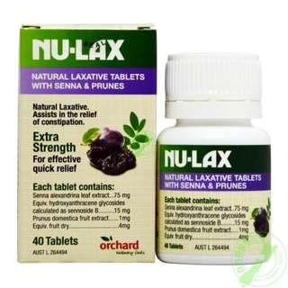 澳洲食品代購NU-LAX天然果蔬纖維添加益生菌食品 清腸保健消宿便取代外食者三餐不足的膳食纖維 40粒
