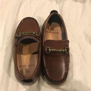 Tan leather loafers size 5 Aus