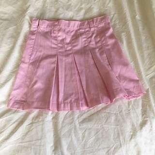 Kids: Pink Pleated Skirt