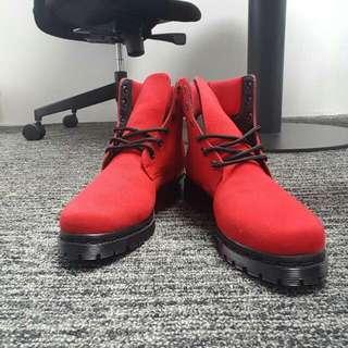 Waterproof Red Harper Boots Nokha