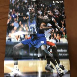 NBA 明尼蘇達灰狼隊 KEVIN GARNETT 雜誌海報