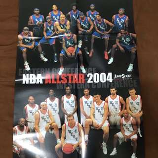 NBA 2004 ALL STAR 雜誌海報