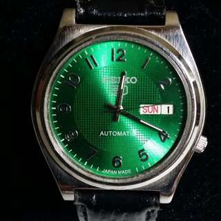 Vintage Watch – VERY RARE GREEN DIAL Automatic SEIKO 5