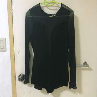 H&M Mesh and Velvet short jump suit (good for Halloween, used once!)