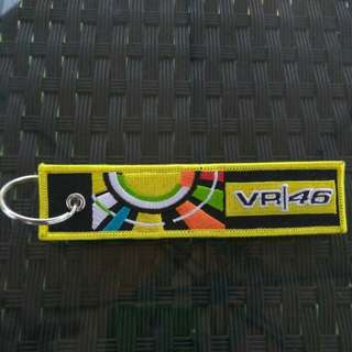 VR46 VALENTINO ROSSI The Doctor  Keychain Flag type made of soft FABRICS Superbike