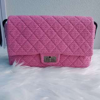 Authentic CHANEL pink mademoiselle flap bag