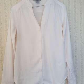 H&M size 10 cream long sleeve shirt
