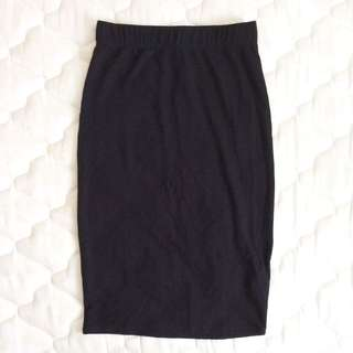 BNWT Bodycon Ribbed Midi Skirt Black