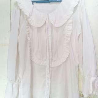 Cream lolita top..