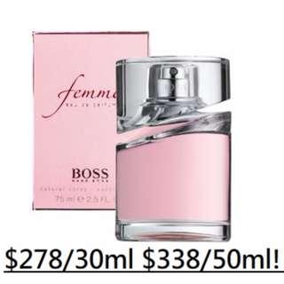 [原裝正貨30/50ml]全新Hugo Boss Femme EDP 波士 風尚 女性淡香精 香水 噴嘴SPRAY