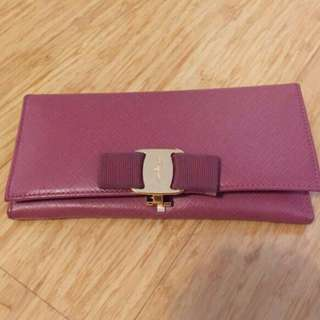 Authentic Salvatore Ferragamo Pink Wallet