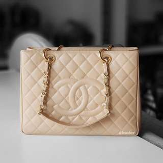Authentic Chanel GST Beige GST WGH