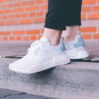 [Uk5] BN authentic adidas NMD R1 white pastel nude tab