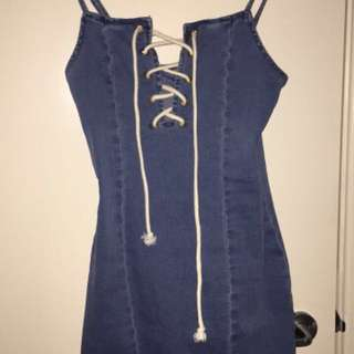 Denim Lace Body Con dress
