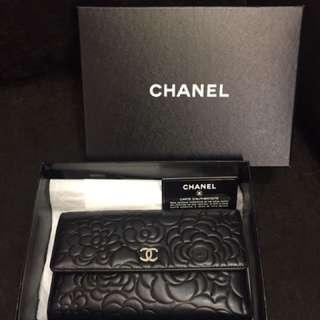 Chanel 山茶花 Long Wallet