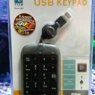 USB Keypad - Rectractable Cable
