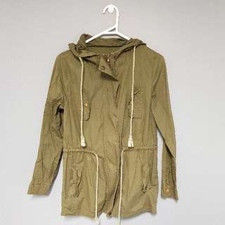 Yesstyle Light Parka Jacket in Khaki Green