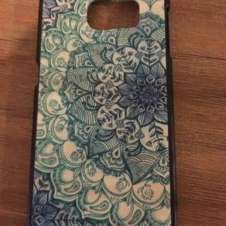 Samsung s6 blue patterned case