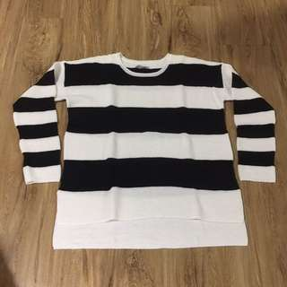 Black And White knitted jumper