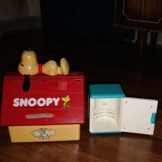 Snoopy ToolBox and Doreamon Refrigerator