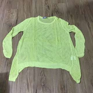 Mesh knitted jumper