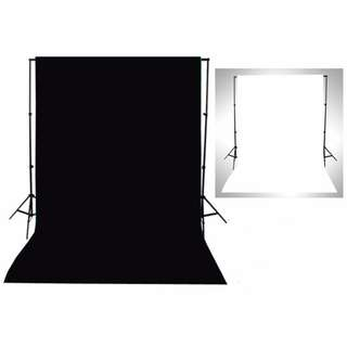 2 in 1 Black and White backdrop cloth (cloth only)