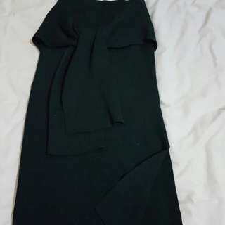Dotti knitted skirt (black)