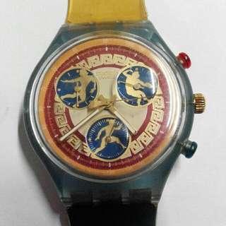 Swatch奧運記念手表,80%新
