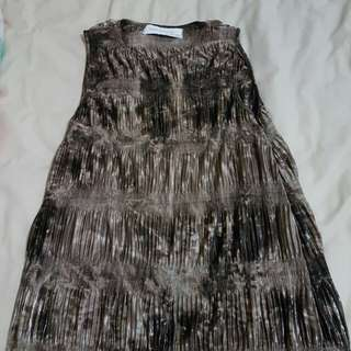 Zara metalic sleeveless ( brown)