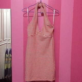 F21 Red and White Striped - Dress