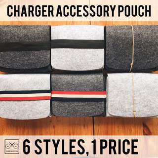 INSTOCKS FREE POSTAGE Charger pouch MacBook Asus DELL HP accessory pouch utility bag cute felt