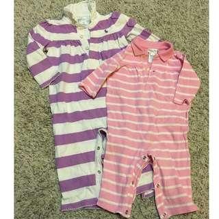 2 Ralph Lauren Girls Rompers - 9 months