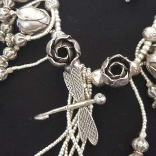 罕有手工精湛古銀頸鏈 Rare craftsmanship ancient silver necklace
