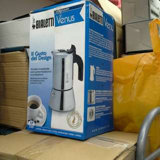 Bialetti Venus 不銹鋼意大利摩卡咖啡壺(原價500幾)10 cups