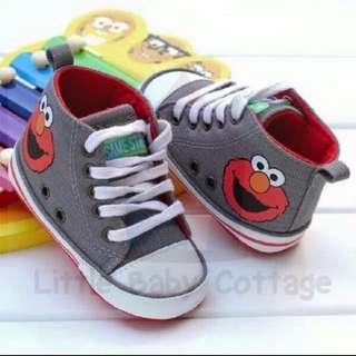Ready Stock 11cm Elmo High Cut Prewalker Sneaker