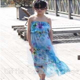 Ready Stock Floral Maxi Tube/Off Shoulder Dress