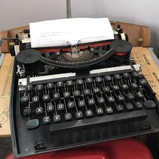 早期復古黑色打字機 老件擺飾收藏品