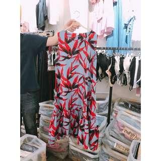 韓 棉麻洋裝