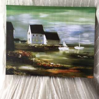 House and Boat Painting