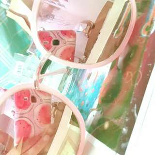 超美 粉色墨鏡