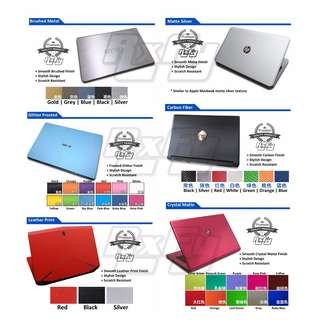 *Premium* Laptop Notebook Tablet Body Skin Sticker Custom Decal Stick-On Skin Surface Protector (User Customisable) for Apple MacBook Acer Asus Lenovo Alienware Dell Fujitsu HP Razer Samsung Sony Thinkpad Toshiba Microsoft Surface